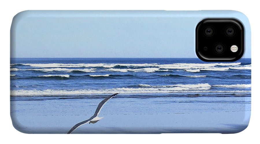 Seagull IPhone 11 Case featuring the photograph Shadow On The Sand by Will Borden