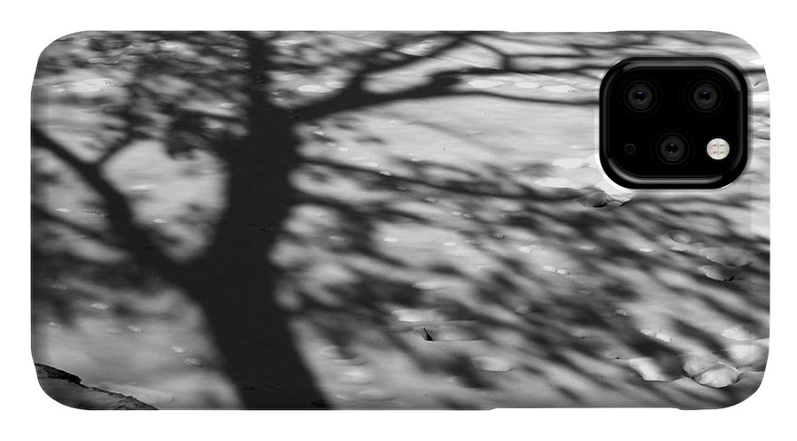 Shadow IPhone Case featuring the photograph Shadow Tree Herrick Lake Naperville Illinois by Michael Bessler