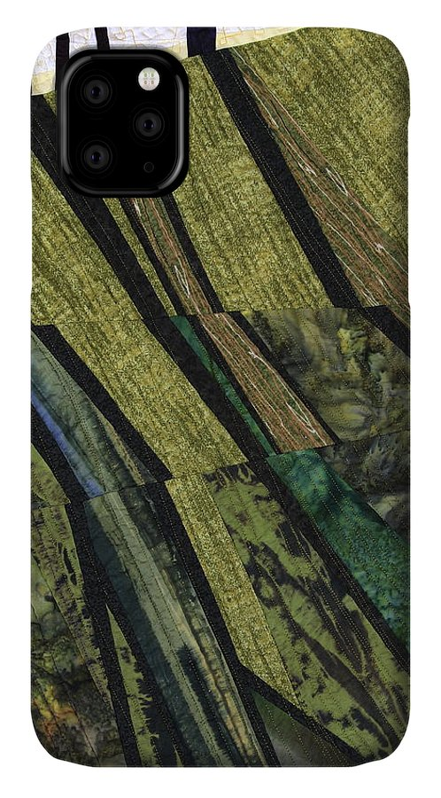 Shadow IPhone Case featuring the tapestry - textile Shadows On The Lawn by Linda Beach