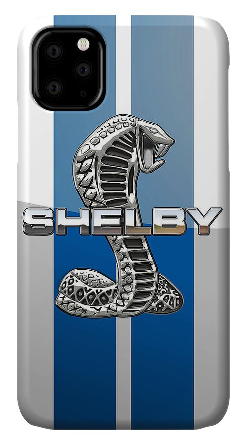 'auto Badges' Collection By Serge Averbukh IPhone Case featuring the photograph Shelby Cobra - 3d Badge by Serge Averbukh