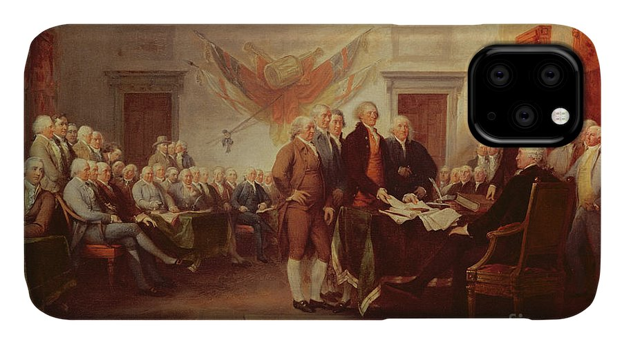 Signing IPhone Case featuring the painting Signing The Declaration Of Independence by John Trumbull
