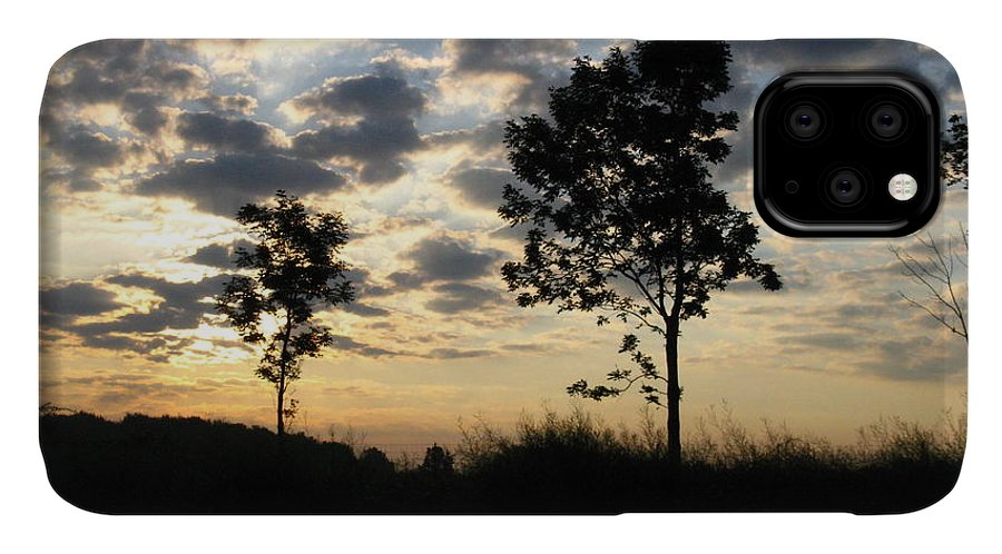 Landscape IPhone Case featuring the photograph Silhouette by Rhonda Barrett
