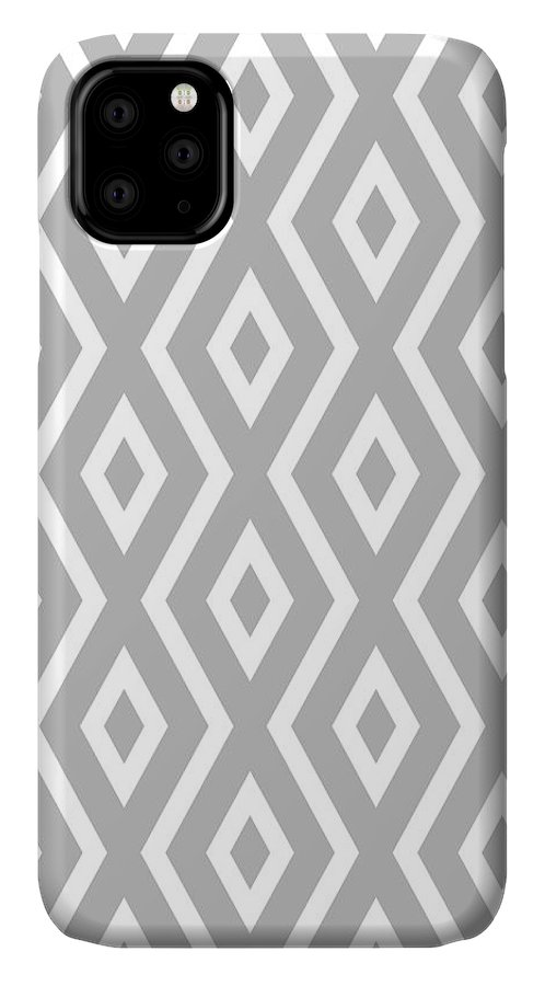 Silver IPhone Case featuring the mixed media Silver Pattern by Christina Rollo