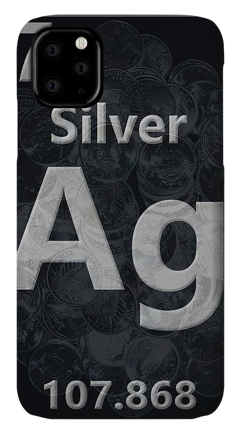 Silver Periodic Table IPhone Case featuring the digital art Silver Periodic Table by Dan Sproul