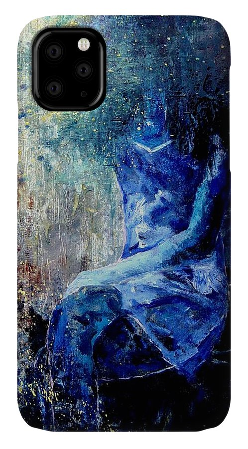 Woman Girl Fashion IPhone Case featuring the painting Sitting Young Girl by Pol Ledent