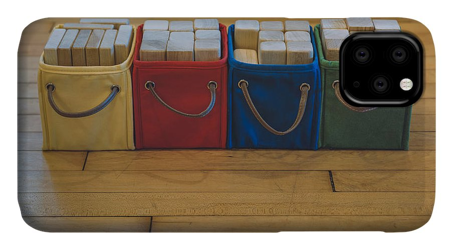 Scott Norris Photography IPhone Case featuring the photograph Smiling Block Bins by Scott Norris