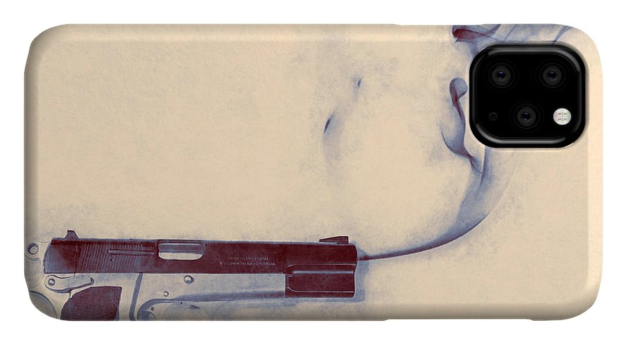 Scott Norris Photography IPhone 11 Case featuring the photograph Smoking Gun by Scott Norris