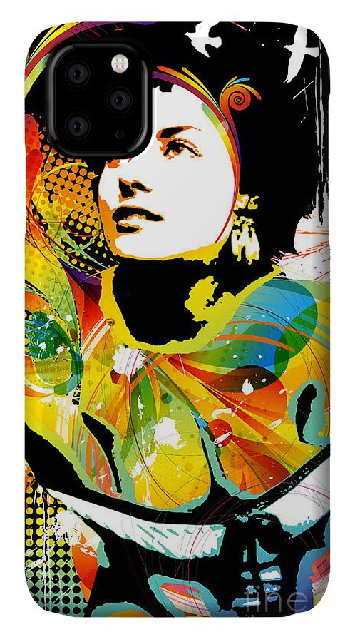 Nostalgic Seduction IPhone Case featuring the mixed media Nostalgic Seduction - Soul Explosion II by Chris Andruskiewicz