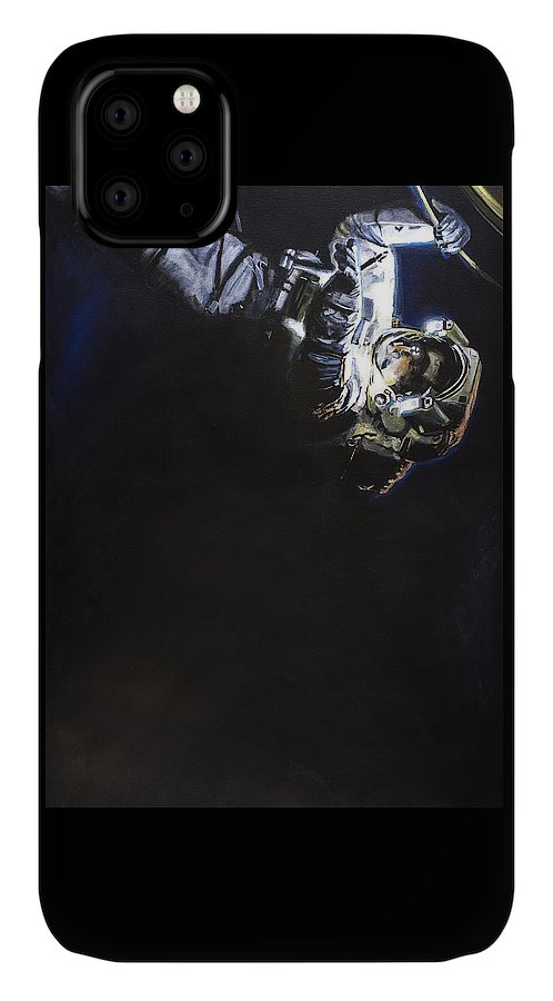 Spacewalk IPhone Case featuring the painting Spacewalk 1 by Simon Kregar