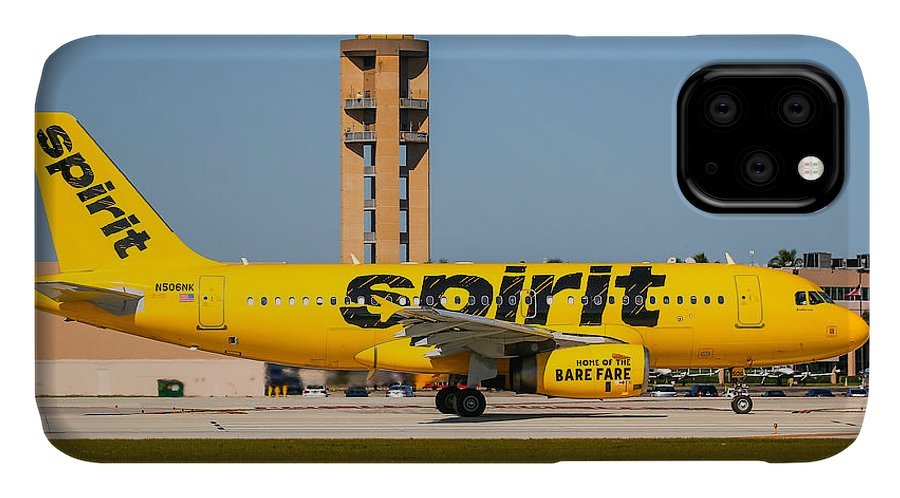 Airplane IPhone Case featuring the photograph Spirit Airline by Dart and Suze Humeston