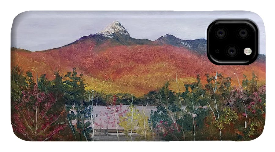 Mt. Chocorua IPhone Case featuring the painting Spring Burst At Chocorua by Sharon E Allen