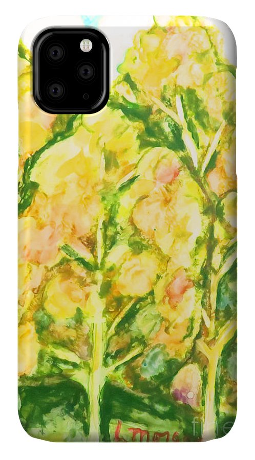 Trees IPhone Case featuring the painting Spring Fantasy Foliage by Laurie Morgan