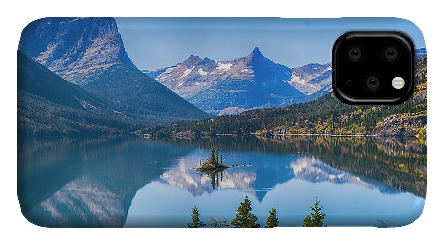 Lake IPhone Case featuring the photograph St Mary Lake by Bryan Spellman