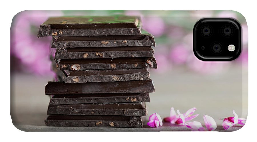 Addiction IPhone 11 Case featuring the photograph Stack Of Chocolate by Nailia Schwarz