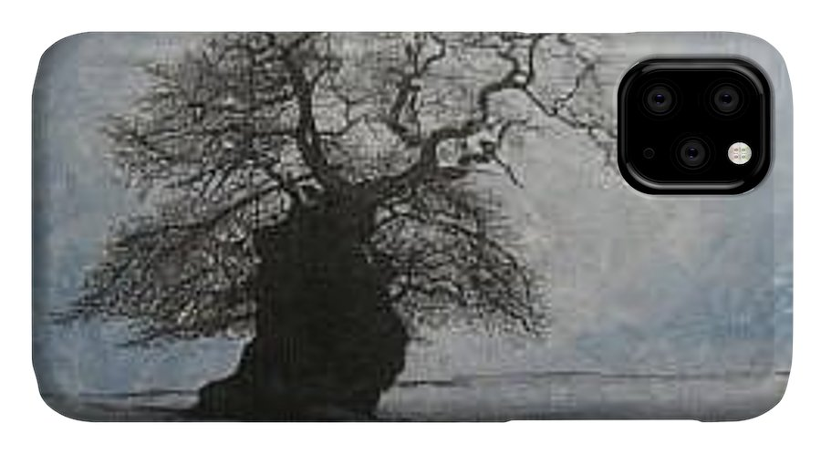 Silhouette IPhone Case featuring the painting Stilton Silhouette by Leah Tomaino