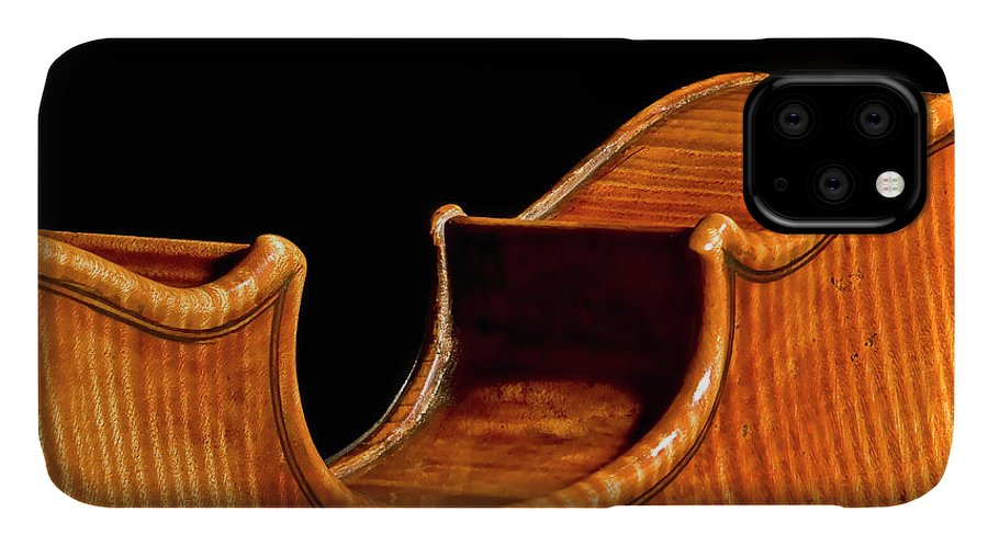 Purfling IPhone Case featuring the photograph Stradivarius Back Corner by Endre Balogh
