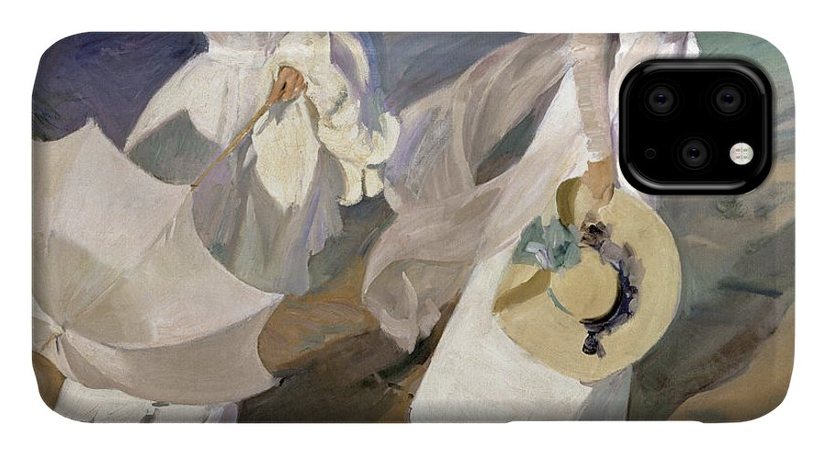 Sorolla IPhone Case featuring the painting Strolling along the Seashore by Joaquin Sorolla y Bastida