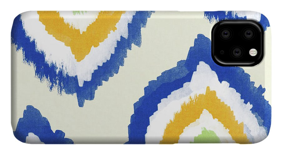 Blue IPhone Case featuring the painting Summer Ikat- Art By Linda Woods by Linda Woods