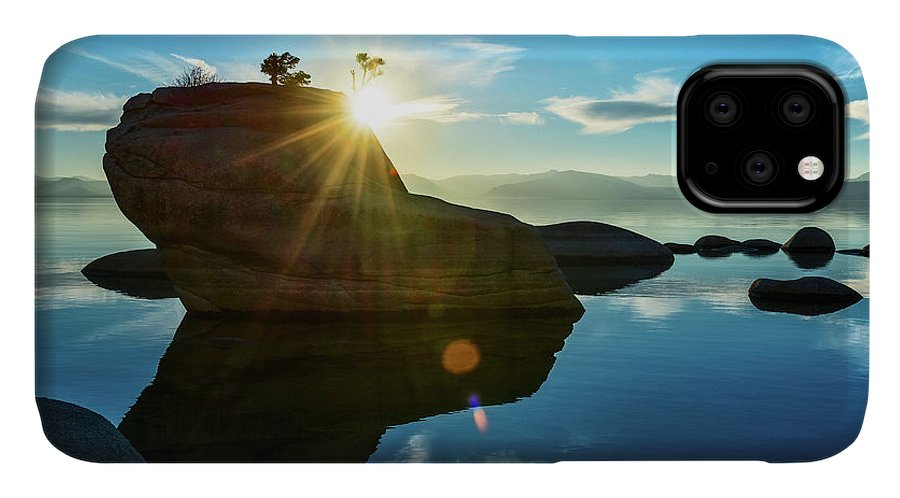 Lake Tahoe IPhone 11 Case featuring the photograph Sun Star Mirror by Jamie Pham
