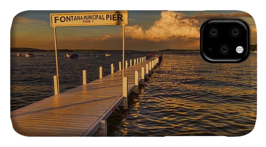 Lake IPhone Case featuring the photograph Sundown - Lake Geneva Wisconsin by Ben Thompson