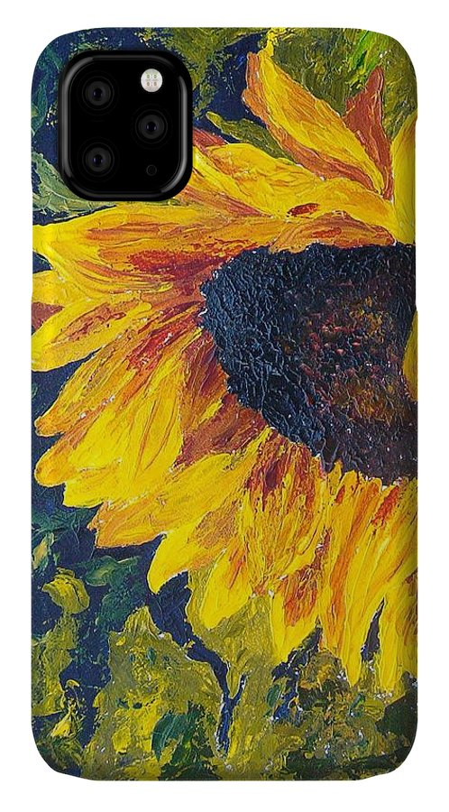 IPhone Case featuring the painting Sunflower by Tami Booher