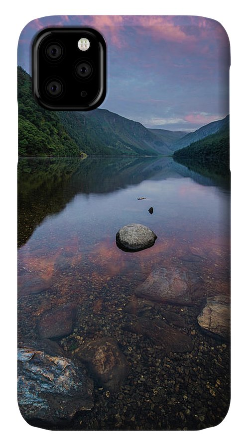 Sunrise IPhone Case featuring the photograph Sunrise at Glendalough Upper Lake #2, County Wicklow, Ireland by Anthony Lawlor