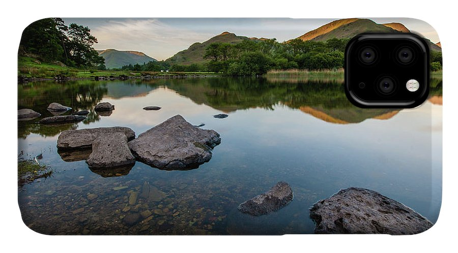 Lake District IPhone Case featuring the photograph Sunrise at Ullswater, Lake District, North West England by Anthony Lawlor