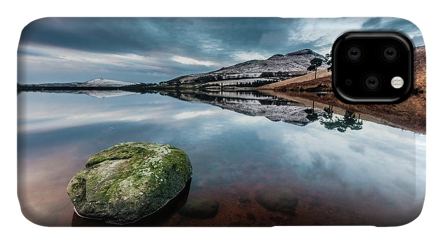 Sunset IPhone Case featuring the photograph Sunset at Dovestone Reservoir, Greater Manchester, North West England by Anthony Lawlor