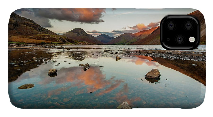Sunrise IPhone Case featuring the photograph Sunset at Wast Water #1, Wasdale, Lake District, England by Anthony Lawlor