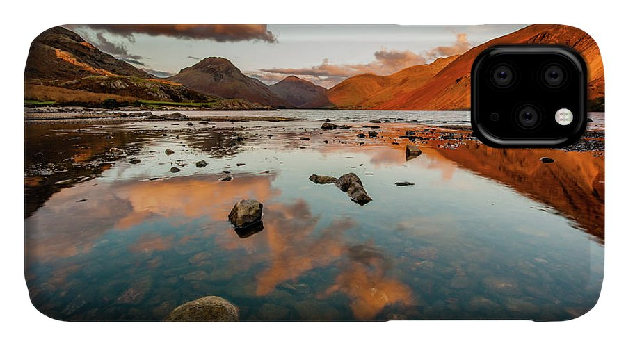Sunrise IPhone Case featuring the photograph Sunset at Wast Water #2, Wasdale, Lake District, England by Anthony Lawlor