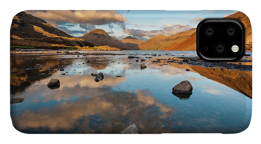 Sunrise IPhone Case featuring the photograph Sunset at Wast Water #3, Wasdale, Lake District, England by Anthony Lawlor