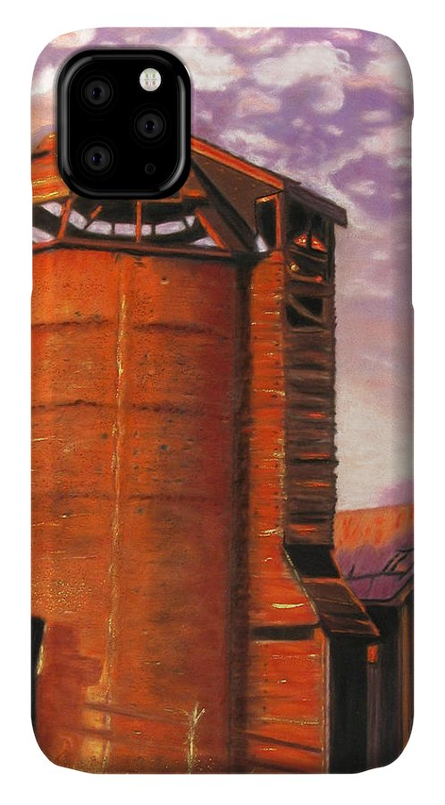 Americana IPhone Case featuring the pastel Sunset Silo by Laura Gabel