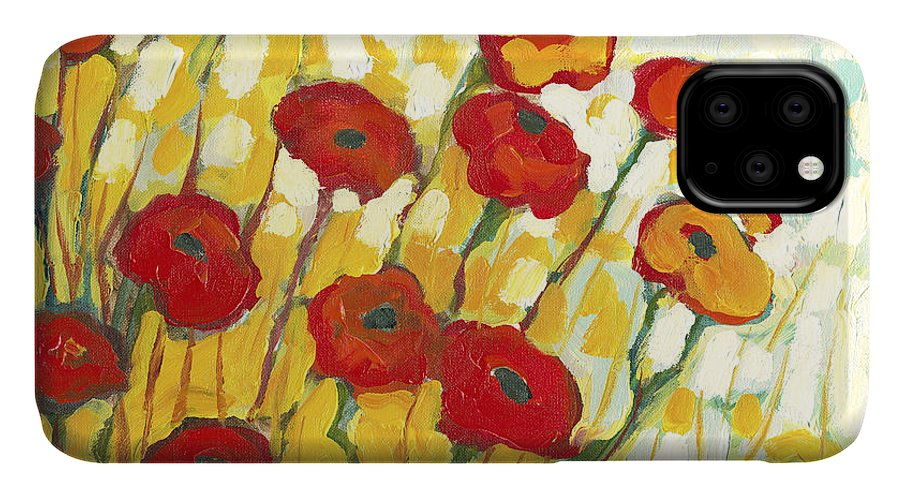 Landscape IPhone Case featuring the painting Surrounded In Gold by Jennifer Lommers