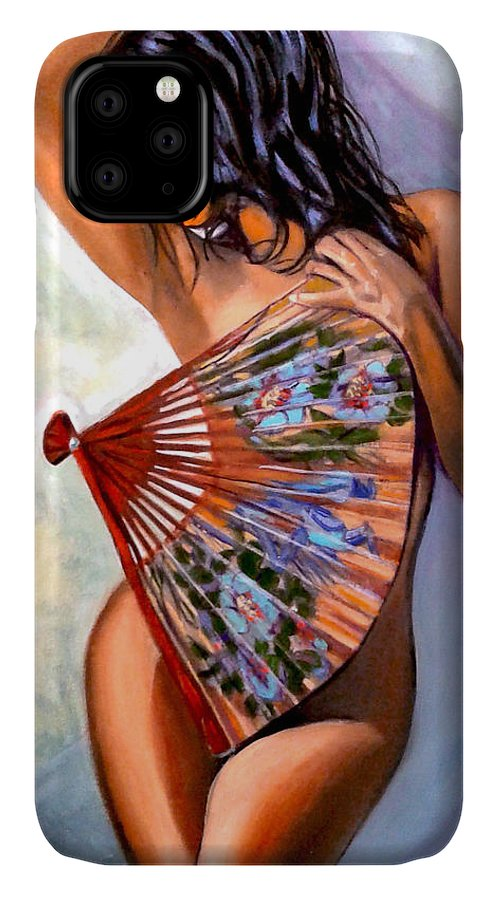 Women IPhone Case featuring the painting Susie by Jose Manuel Abraham