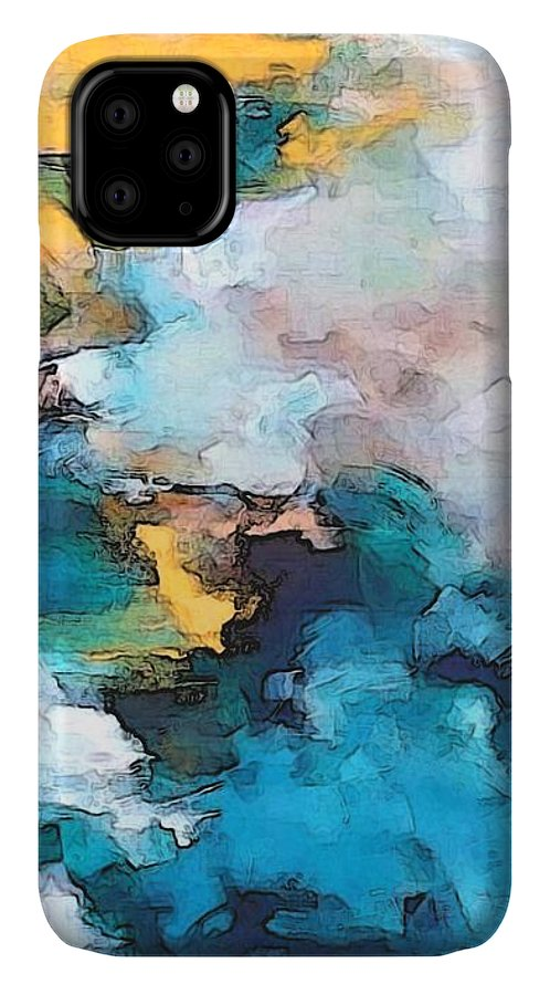 Abstract IPhone Case featuring the digital art Sweet Memory Shades by Linda Mears