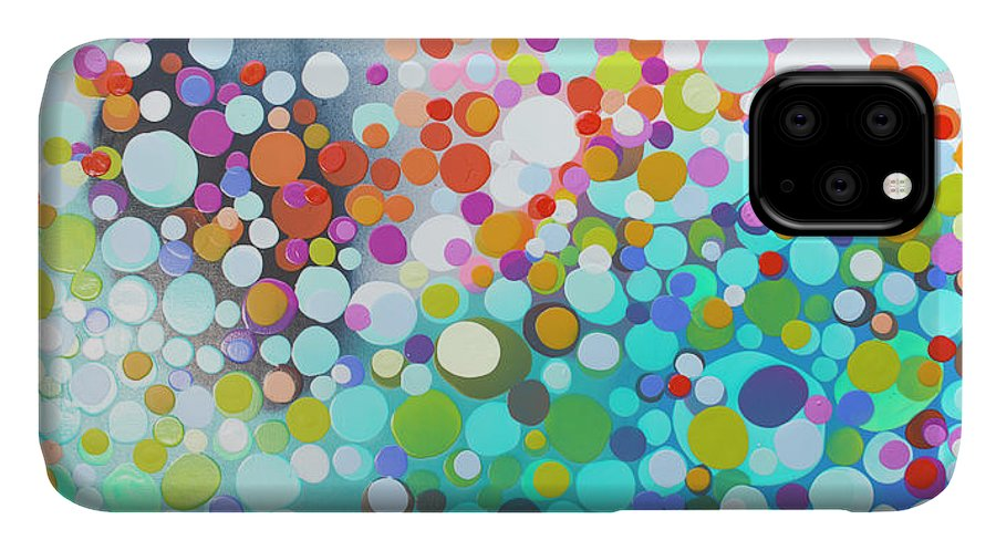 Abstract IPhone 11 Case featuring the painting Sweet Thing by Claire Desjardins