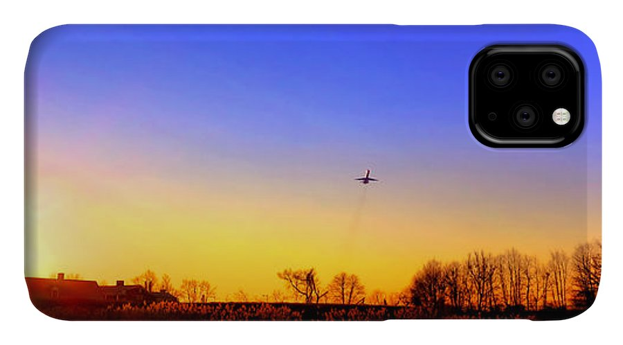 Jet IPhone 11 Case featuring the photograph Taking Off by Olivier Le Queinec
