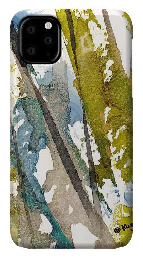 Forest IPhone Case featuring the painting Tall Timber by Susan Kubes