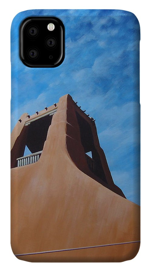 Taos IPhone Case featuring the painting Taos Memory by Hunter Jay