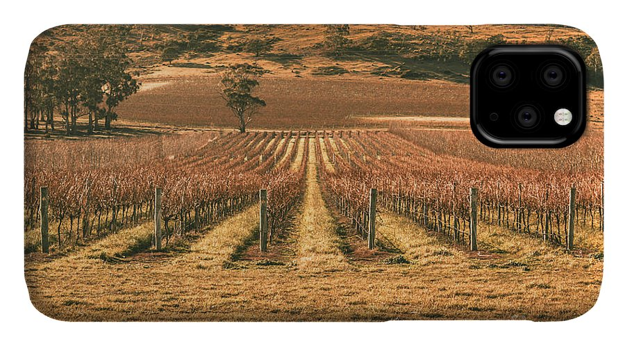 Australia IPhone Case featuring the photograph Tasmanian Winery In Winter by Jorgo Photography - Wall Art Gallery