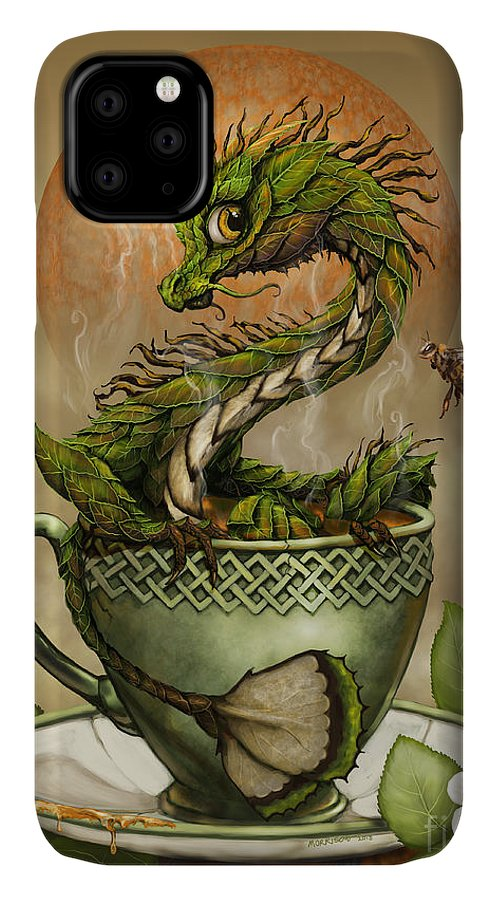 Tea IPhone Case featuring the digital art Tea Dragon by Stanley Morrison