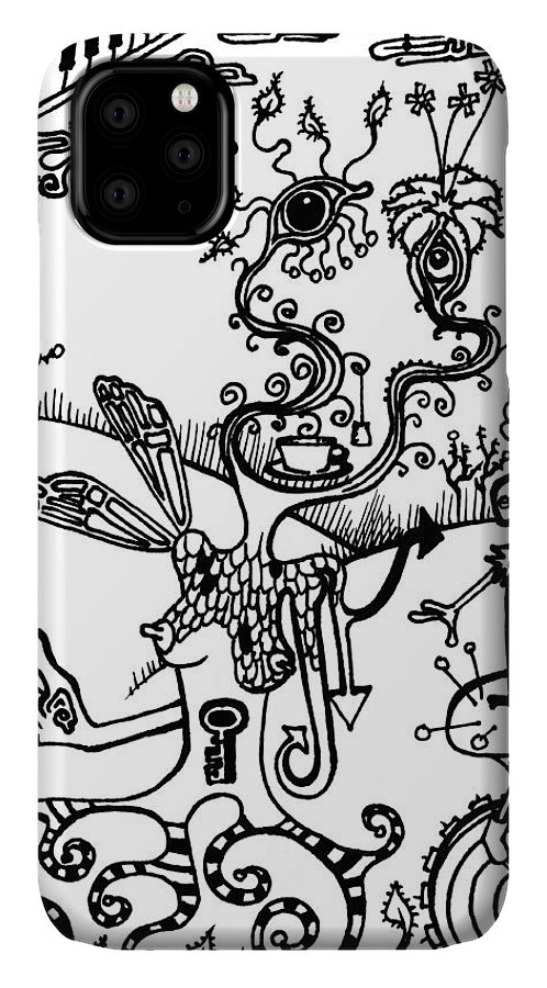 Tea IPhone 11 Case featuring the painting Tea In The Sahara by Kelly Jade King