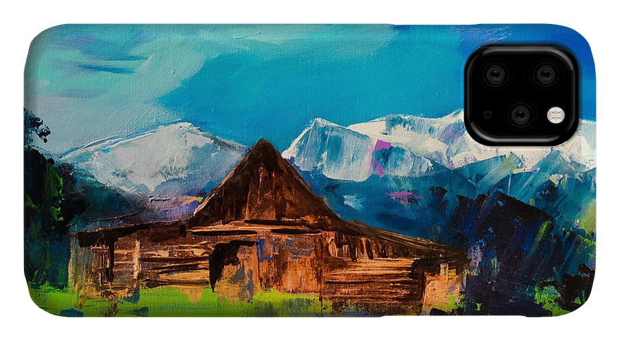 Barn IPhone Case featuring the painting Teton Barn by Elise Palmigiani