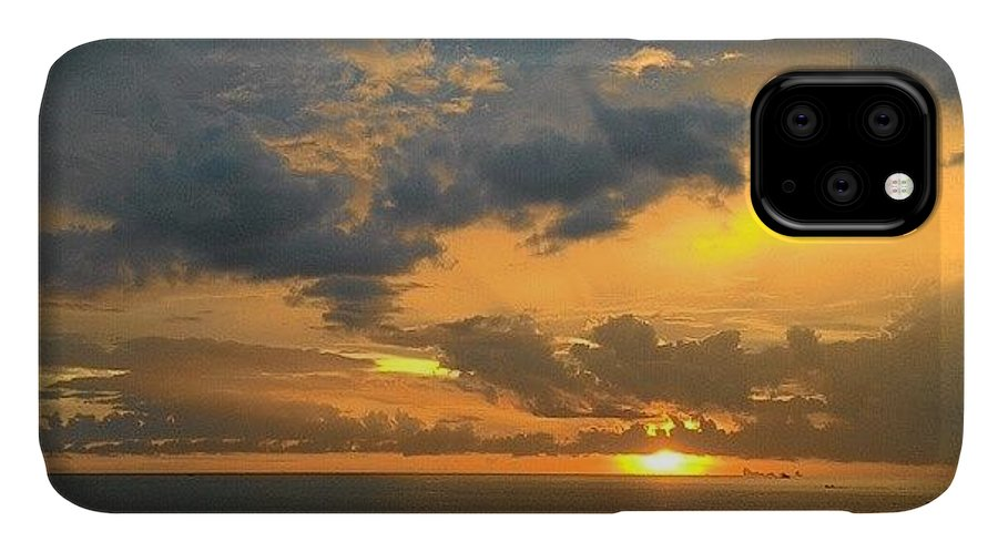 Beautiful IPhone 11 Case featuring the photograph Thailand Sunset by Georgia Fowler