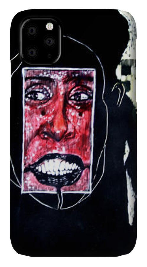 Smile IPhone Case featuring the mixed media That Certian Smile by Chester Elmore