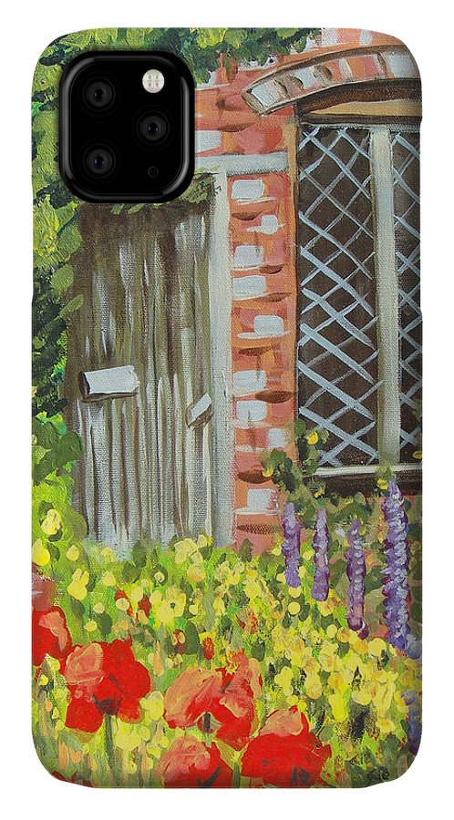 Windows IPhone Case featuring the painting The Artist's Cottage by Laurie Morgan