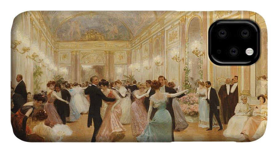 Ball IPhone Case featuring the painting The Ball by Victor Gabriel Gilbert