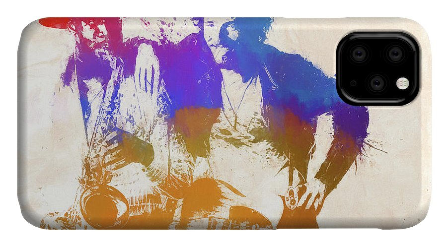 Bruce And The Big Man IPhone Case featuring the painting The Boss And The Big Man by Dan Sproul