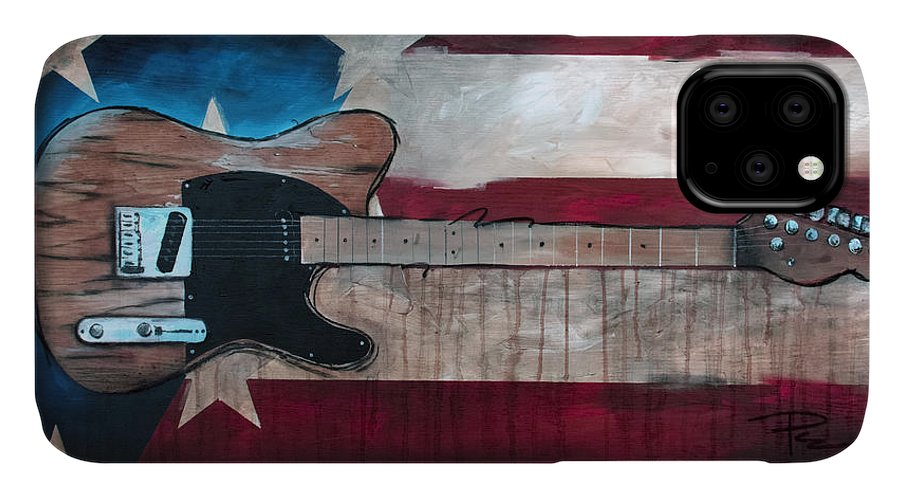 Bruce Springsteen IPhone Case featuring the painting The Boss by Sean Parnell
