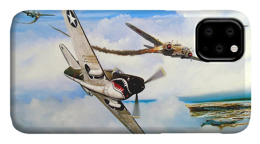 Military IPhone Case featuring the painting The Day I Owned the Sky by Marc Stewart
